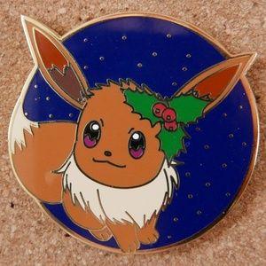 Holiday Eevee Enamel Pin